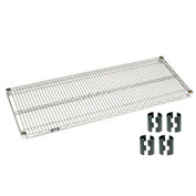 Chrome Wire Shelf 72x18 With Clips