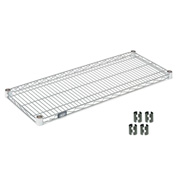"Nexel S1436Z Poly-Z-Brite Wire Shelf 36""W x 14""D with Clips"