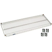 "Nexel S2448Z Poly-Z-Brite Wire Shelf 48""W x 24""D with Clips"