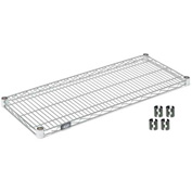 "Nexel S1824Z Poly-Z-Brite Wire Shelf 24""W x 18""D with Clips"