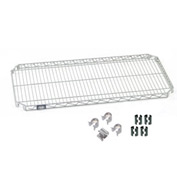 "Nexel S2472AZ Quick Adjust Wire Shelf 72""W x 24""D with Hooks and Clips"