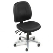 Antibacterial Office Chair - Vinyl - Black