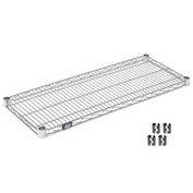 "Nexel S1824C Chrome Wire Shelf 24""W x 18""D with Clips"