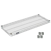 "Nexel S1842C Chrome Wire Shelf 42""W x 18""D with Clips"