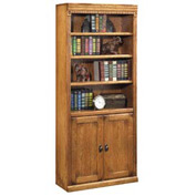 Martin Furniture Library Bookcase - Wheat - Huntington Oxford Series