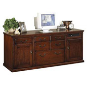 Martin Furniture Storage Credenza - Vibrant Cherry - Huntington Club Series