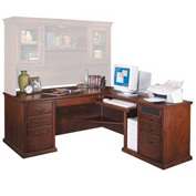 Huntington Club Right L-Shaped Desk - Vibrant Cherry