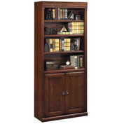 Huntington Club Library Bookcase - Vibrant Cherry