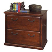 Martin Furniture 2 Drawer Lateral File Cabinet - Vibrant Cherry - Huntington Club Series