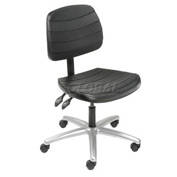 Polyurethane Chair - Mid Back - Black