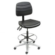 Shop Stool - Polyurethane - 5 Way Adjustable - Black