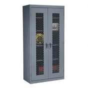 Sandusky Expanded Metal Front Storage Cabinet CA4M361872 -36x18x72, Charcoal