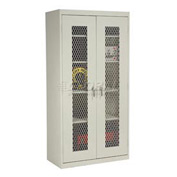 Sandusky Expanded Metal Door Storage Cabinet EA4M462472 - 46x24x72, Putty