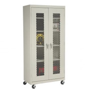 Sandusky Expanded Metal Door Mobile Storage Cabinet TA4M361872 - 36x18x78, Putty