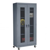 Sandusky Expanded Metal Door Mobile Storage Cabinet TA4M362472 - 36x24x78, Charcoal