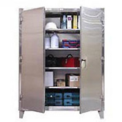 Strong Hold® Heavy Duty Storage Cabinet 46-244SS - Stainless Steel 48 x 24 x 78