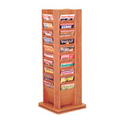 40 Pocket Revolving Floor Display Medium Oak