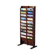 20 Pocket Free Standing Oak Display Mahogany