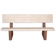 "Concrete 48"" Commercial Bench with Backrest"
