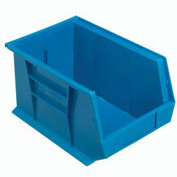 Quantum Hanging & Stacking Storage Bin QUS242 8-1/4 x 13-5/8 x 8 Blue - Pkg Qty 12