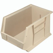 Quantum Stackable Storage Bin QUS242 8-1/4 x 13-5/8 x 8 Beige - Pkg Qty 12