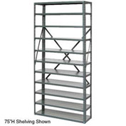 "Open Style Steel Shelf With 6 Shelves No Bins 36""Wx18""Dx39""H Ready To Assemble"