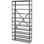 "Open Style Steel Shelf With 11 Shelves No Bins 36""Wx18""Dx73""H Ready To Assemble"