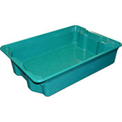 "Molded Fiberglass Nest and Stack Tote 780808 - 25-1/4"" x 18"" x 6"", Pkg Qty 6, Green - Pkg Qty 6"