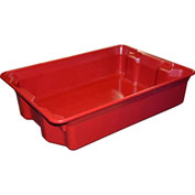 """Molded Fiberglass Nest and Stack Tote 780808 - 25-1/4"""" x 18"""" x 6"""", Pkg Qty 6, Red - Pkg Qty 6"""