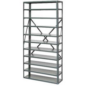 "Open Style Steel Shelf With 13 Shelves 36""Wx12""Dx73""H Ready To Assemble"