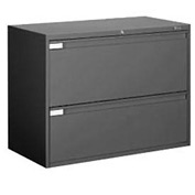 "Global™ 9300 Series 36""W 2 Drawer Binder Lateral File - Black"
