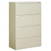 "Global™ 9300 Series 36""W 4 Drawer Binder Lateral File - Putty"