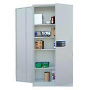 Sandusky Snapit Keyless Electronic Storage Cabinet KDE7848 Easy Assembly - 48x24x78, Light Gray