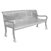 "72"" Perforated Roll Formed Bench - Gray"