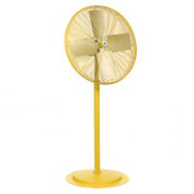 TPI 294545Y,24 Inch Pedestal Fan Non Oscillating Yellow 1/2 HP 5600 CFM 1 PH Totally Enclosed Motor