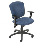 Global™ Supra Task Chair - Blue Fabric Upholstery