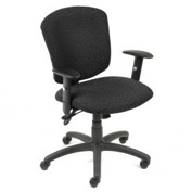 Global™ Supra Task Chair - Black Fabric Upholstery