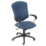 Global™ Supra High Back Executive Chair - Blue Fabric Upholstery
