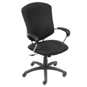 Global™ Executive Office Chair - Fabric - High Back - Black - Supra Series