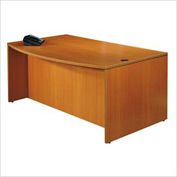 Offices To Go™ Bow Front Desk Shell in Medium Cherry - Executive Modular Furniture