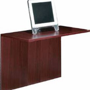 Offices To Go™ 42 Inch Flush Bridge in Mahogany - Executive Modular Furniture