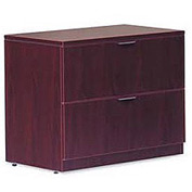 Two Drawer Lateral File in Mahogany - Executive Modular Furniture