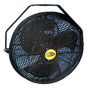 "J&D 18"" Fan With Wall Ceiling Bracket 1/5 HP 1550 CFM, Black"