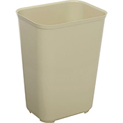 Rubbermaid 10 Gallon Fire Resistant Fiberglass Wastebasket - Beige