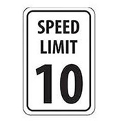 Aluminum Sign -  Speed Limit 10 - .063mm Thick