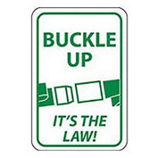 Reflective Aluminum Sign - Buckle Up It's The Law- .080mm Thick