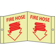 Fire Hose Sign - Glow Acrylic 5-3/4 x 8-3/4