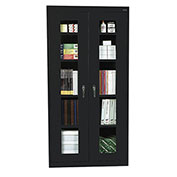 Sandusky Clear View Storage Cabinet CA4V361272 -36x12x72, Black