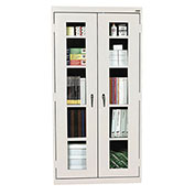 Sandusky Clear View Storage Cabinet CA4V361272 -36x12x72, Light Gray