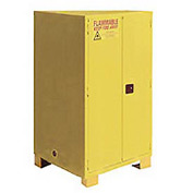"Global&#8482 Flammable Cabinet With Legs - Manual Close Double Door 60 Gal - 34""W x 34""D x 69""H"